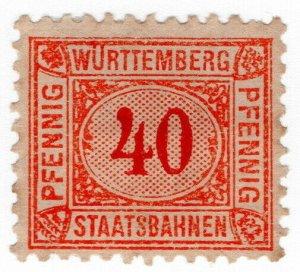 (I.B) Germany Railway : Wurttemburg Staatsbahnen 40pf