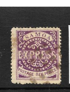 SAMOA  1877-80  6d  BRIGHT VIOLET EXPRESS    FU   SG 6