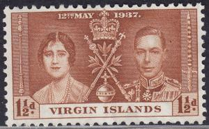 British Virgin Islands 74 Common Design 302 1937