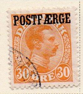 Denmark Sc Q5 1922 30 ore Christian X Post Faerge overprint stamp used