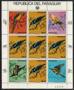 Paraguay Honeycreeper Cyenerpes cyaneus Sheetlet of 5v + 4 labels SC#2092