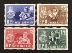 Romania 1963 #1536-9, FAO, MNH.