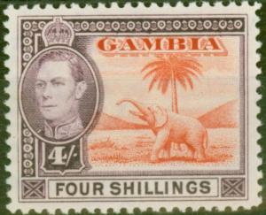 Gambia 1938 4s Vermilion & Purple SG159 V.F MNH