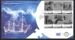 Netherlands 2003 FDC 478 Water relation one of two envelopes