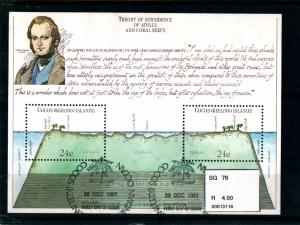 COCOS (KEELING) ISLANDS - 150th Aniv of Darvin's Voyage - Miniature Sheet