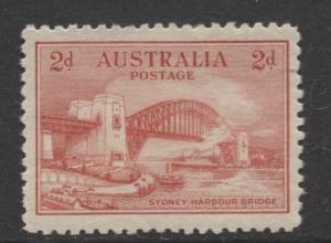 Australia - Scott 130- Sydney Harbor Bridge  -1932- MLH - Single 2d stamp