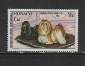 MONACO #1235 1981 INTERNATIONAL DOG SHOW MINT VF NH O.G