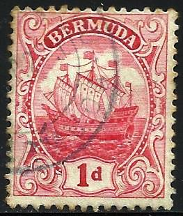 Bermuda 1922 Scott# 42 Used WMK 3