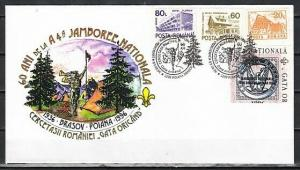 Romania, 1996 issue. 09/AUG/96. 4th National Jamboree cancel on Cachet cover.