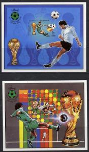 Libya 1982 Football World Cup set of 2 imperf m/sheets (M...