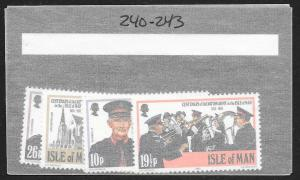 ISLE OF MAN Sc#240-243 Complete Mint Never Hinged Set