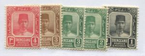 Malaya Trengganu 1921-38 4 values from 1 cent to 4 cents mint o.g.