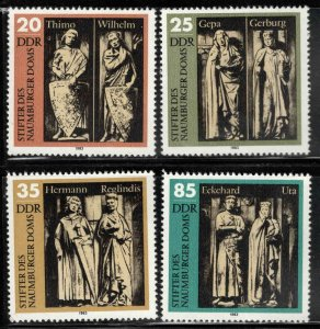 German DDR  Scott 2355-2358 Naumberg Cathedral Statue set 1983 MNH**
