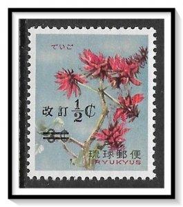 Ryukyu Islands #190 Flowers Surcharged MNH