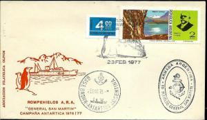 AANT-187 ANTARCTIC ANTARCTICA 1987 ARGENTINA BROWN STATION SAN MARTIN ICEBREAKE