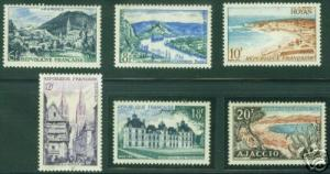 FRANCE Scott 719-24 MNH** Tourism Stamp Set CV 5.25