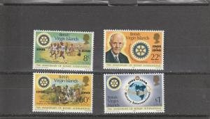 British Virgin Islands  Scott#  381-4  MNH