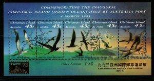 CHRISTMAS ISLAND SGMS377 1992 SEA BIRDS O/P TAIPEI FINE USED