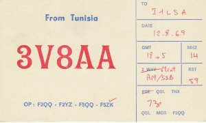 7367 Amateur Radio QSL Card  TUNISIA