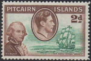 Pitcairn Islands 1940 2d Lt. Bligh and the Bounty MH