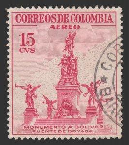 COLOMBIA 1954 SCOTT # C242. USED