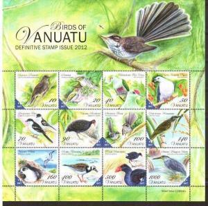 Vanuatu 2012. [n0288] Birds (s\s), MNH