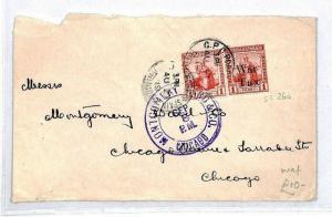 CS241 Trinidad and Tobago 1919 War Tax Cover {samwells-covers}