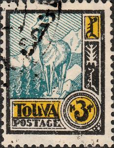 TOUVA / TUVA / TANNU-TUWA - 1927 Mi.17 3k Himalayan Goran - VFU (d)