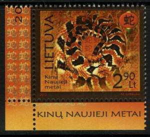 Lithuania #991  MNH - Chinese Lunar New Year of the Snake (2013)
