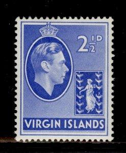 BRITISH VIRGIN ISLANDS GVI SG114a, 2½d ultramarine, M MINT.