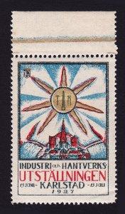 REKLAMEMARKE INDUSTRI & HANTVERKS - UTSTÄLLNINGEN KARLSTAD SWEDEN 1927