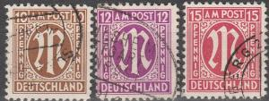 Germany #3N7-9 F-VF Used CV $5.25 (D1303)