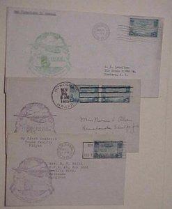 HAWAII  FLIGHTS 3 DIFF. 1935 NOV.22,24, DEC 5