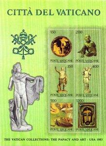 Vatican. 1983. bl7. Sculptures. MNH.