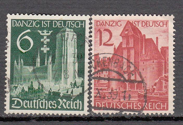 Germany - 1939 Danzig with Reich Sc# 492/493  (9149)