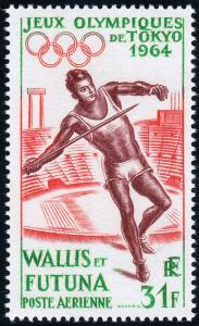 Wallis & Futuna Islands Scott C19 (1964) Mint VLH VF B