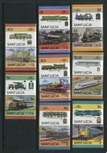 St Lucia #807-14 MNH - Make Me An Offer