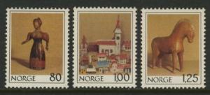 Norway 738-40 MNH Christmas, Wooden Doll, Horse, Toys