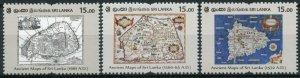 Sri Lanka 2020 MNH Ancient Maps Stamps Cartography 3v Set