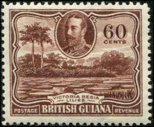 British Guiana SC# 219 Victoria Regina Lilies 60c MH