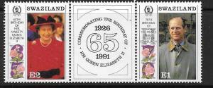 SWAZILAND SG592a 1991 65th BIRTHDAY OF QUEEN ELIZABETH II MNH