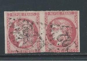 France 48 pair, used, 3 nice margins.  2018 CV $500.00
