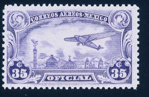 MEXICO CO13, 35¢ OFFICIAL AIR MAIL SINGLE, MINT, NH. F-VF.