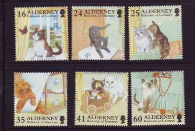 Alderney Sc 92-7 1996 Domestic Cats stamps mint NH