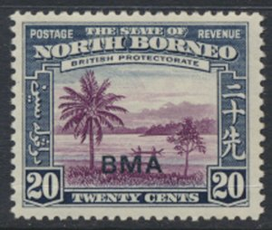 North Borneo  SG 329 SC# 217 MLH    Opt BMA  See scans / details