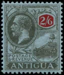 Antigua SC# 62 SG# 59 King George V 2s6d  wmk 3 MLH