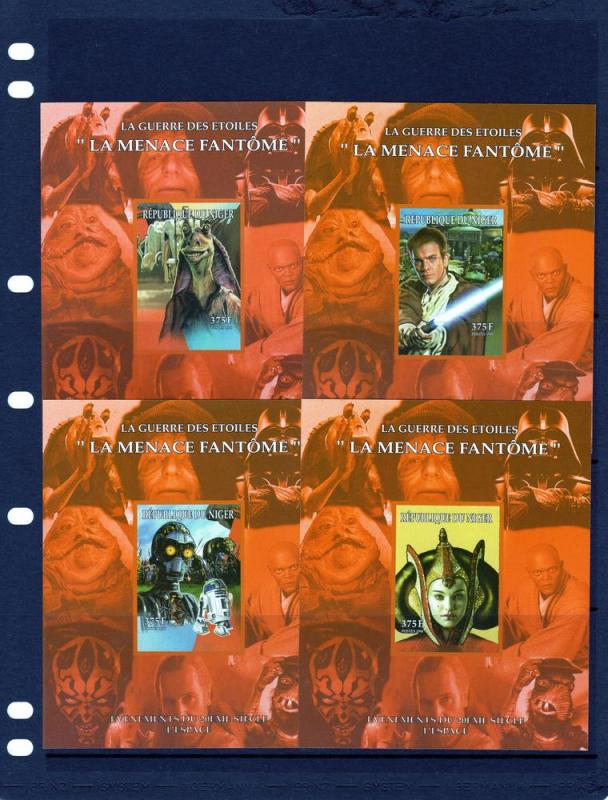 Niger 1998  Space/Star Wars 9 S/S Imperforated  MNH # 83/91C