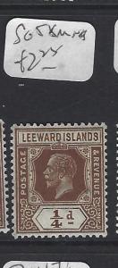 LEEWARD ISLANDS  (P2608BB)  KGV 1/4D  SG 58   MOG