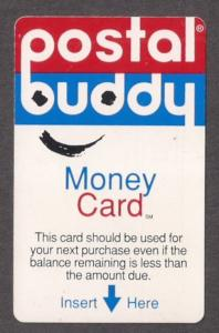 Postal Buddy DEBIT card to purchase CVUX1 no value but collectible! VF