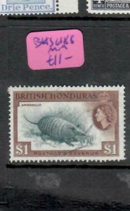 BRITISH HONDURAS  (P2306BB)  QEII  ARMADILLO  $1.00  SG 188   MOG
